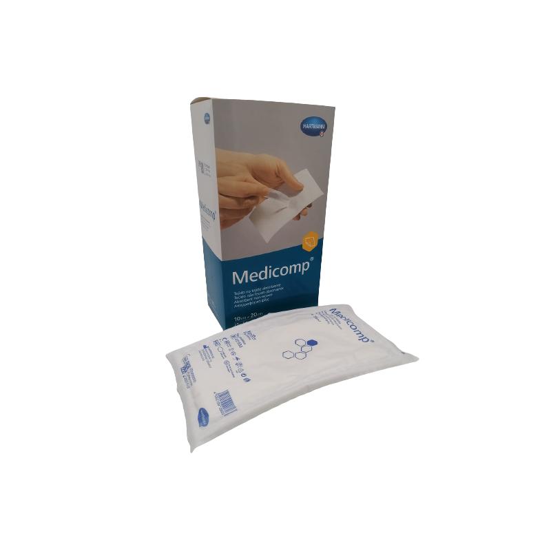 MEDICOMP Gasas estériles tejido no tejido 10x20 25 sobres 2 unidades