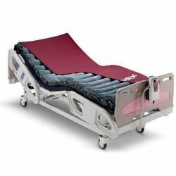 Colchón de aire alternante Domus II montado sobre cama eléctrica