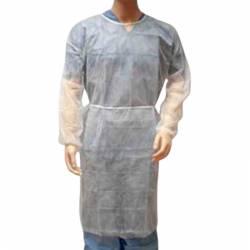 Bata desechable manga larga con puño elástico tejido sin tejer 30gr Blanco