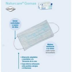 Mascarilla quirúrgica con gomas Naturcare