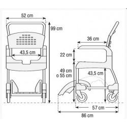 medidas de silla de ruedas Clean
