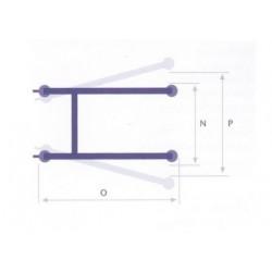 dimensiones Grua Hop e-150 dimensiones reducidas