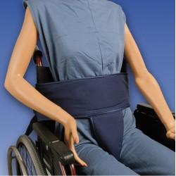 Cinturón abdominal para silla con soporte perineal