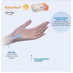guantes de vinilo sin polvo NATURFLEX ALTA CALIDAD