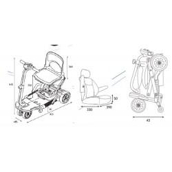 Dimensiones scooter electrico plegable apex brio