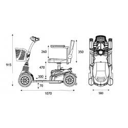 Dimensiones scooter electrico Apex Zen