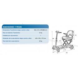 Dimensiones y pesos Scooter apex Transformer