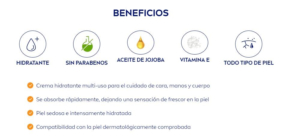 Beneficios Nivea Soft Crema Hidratante intensivo Corporal